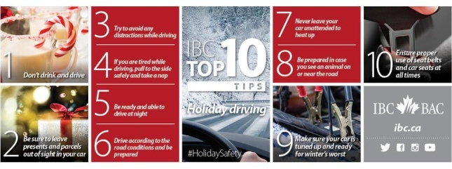 IBC's Top 10 tips for a safe holiday season on the roads