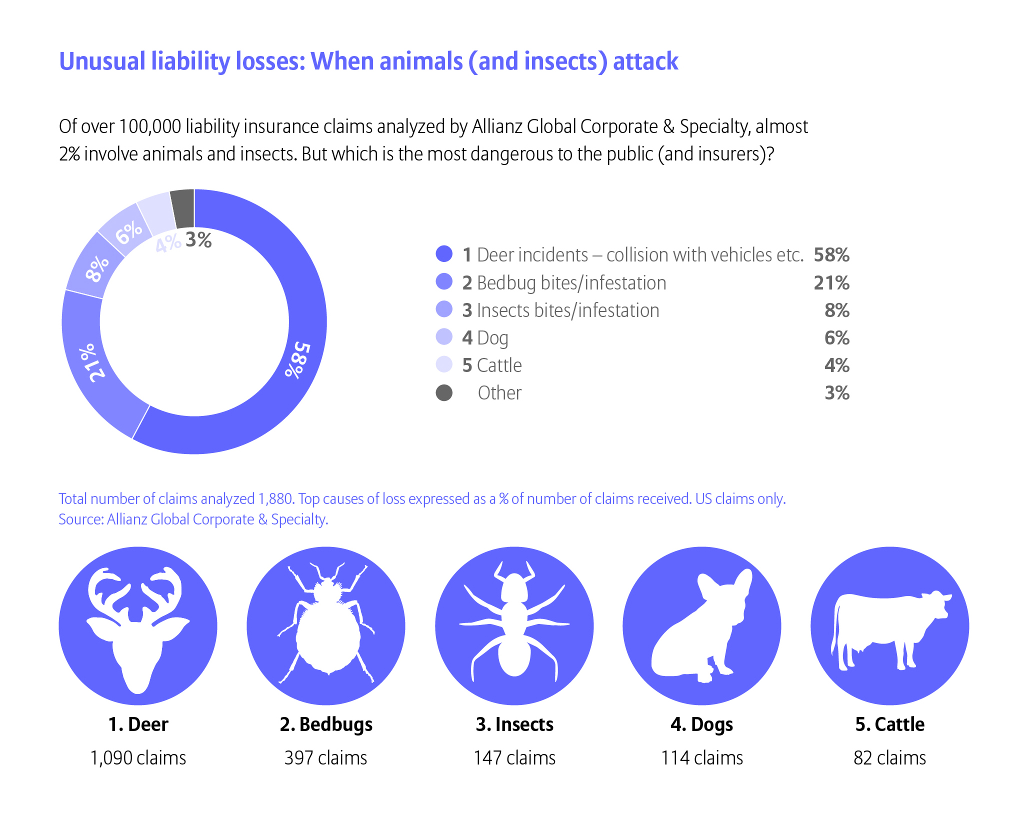Unusual liability losses: When animals (and insects) attack
