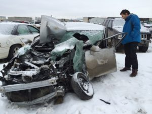 Since a crash on an icy road in 2014, Josh can tell you firsthand how seatbelts save lives (SGI)