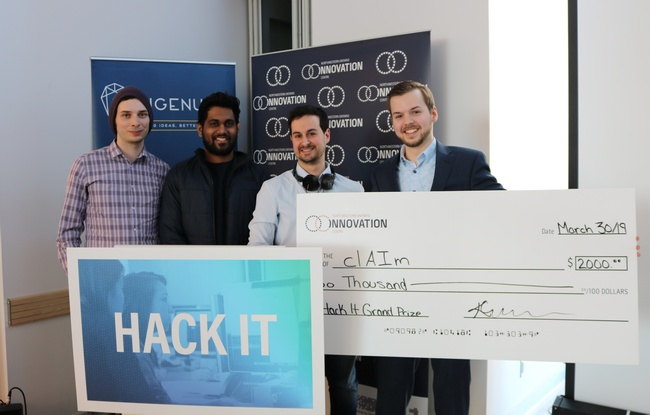 """clAIm"" won the grand prize for an AI solution to detect fraudulent claims"