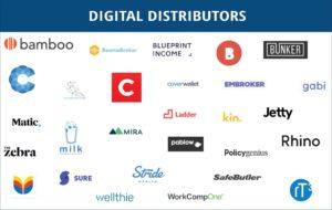 Digital Distributors (Novarica 2019 Insuretech Report)