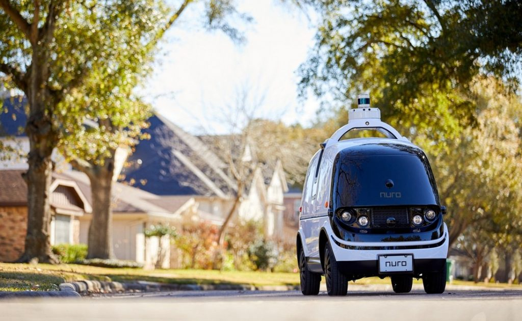 Nuro R2: a self-driving delivery vehicle, shown here in Houston, Texas